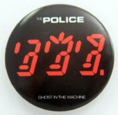 The Police - 'Ghost in the Machine' Large Button Badge